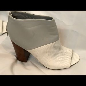 Gray and White Ankle Boots Sam Edelman